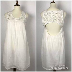 🍄Les Petites Crochet Cut Out Back Lined Dress